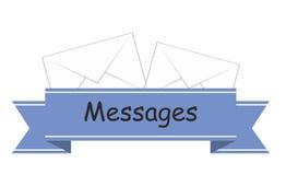 Mensajes de la etiqueta engomada Fotografía de archivo libre de regalías
