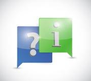 Mensajes de la pregunta y de la exclamación Imagen de archivo