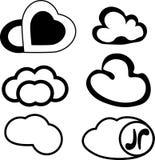 Mensajes del ejemplo bajo la forma de nubes libre illustration