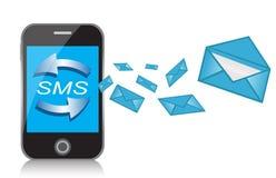 Mensajes del teléfono celular y de texto stock de ilustración