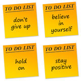 Mensajes positivos stock de ilustración