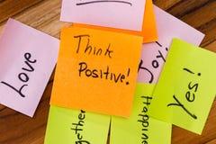 Mensajes positivos Fotografía de archivo libre de regalías