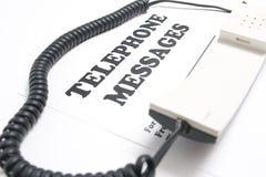 Mensajes telefónicos Imágenes de archivo libres de regalías