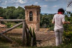 Mensano, Сиена, Тоскана - Италия стоковое фото
