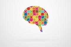 Mensch Brain Jigsaw Puzzle Lizenzfreies Stockbild