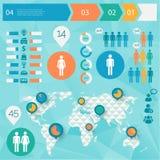 Mensch gibt infographics heraus Stockbilder