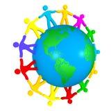 Menschen in der ganzen Welt Lizenzfreie Stockfotos