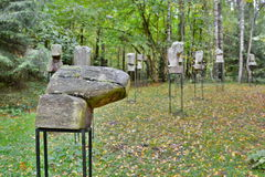 """Menschen des Altertums"" durch De St Croix Europos-Parkas vilnius litauen Stockfotografie"
