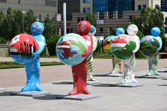 Menschen-Energie Astanas Art Fest 2016 für Ausstellung 2017 in Astana Lizenzfreies Stockfoto