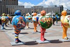 Menschen-Energie Astanas Art Fest 2016 für Ausstellung 2017 in Astana Lizenzfreie Stockfotos
