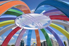 Menschen-Energie Astanas Art Fest 2016 für Ausstellung 2017 in Astana Lizenzfreies Stockbild