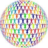 Menschen färbten Lizenzfreies Stockfoto