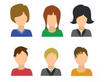 6 Menschen icones Lizenzfreies Stockbild