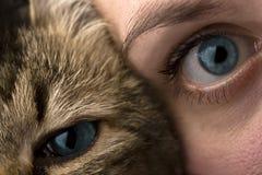 Menschen und Tiere Stockfotografie