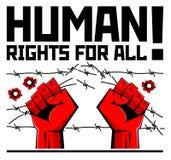 Menschenrechte FÜR ALLE stock abbildung