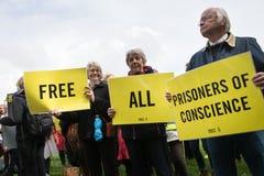Menschenrechtsprotest Lizenzfreies Stockbild