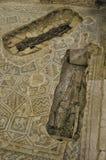 Menschliche Überreste in einem römischen Haus stockfotografie