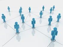 Menschliche Abbildungen als Symbol des Sozialnetzes Stockfoto