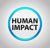 Menschliche Auswirkung ringsum blauen Druckknopf vektor abbildung