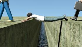 Menschliche Brücke lizenzfreie abbildung