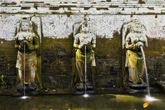 Menschliche geformte Wasserbrunnen am Elefanten höhlen aus Lizenzfreies Stockbild