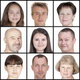 Menschliche Gesichter des unterschiedlichen Alters Lizenzfreies Stockfoto