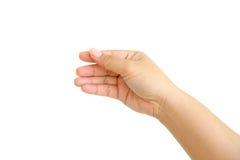 Menschliche Hand getrennt Lizenzfreie Stockbilder