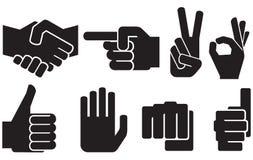 Menschliche Handzeichensammlung stock abbildung