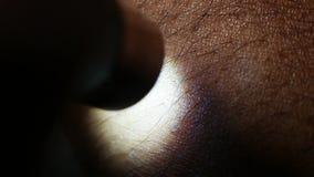 Menschliche Hautanalyse stock video