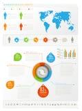 Menschliche infogeaphics Elemente Lizenzfreies Stockfoto