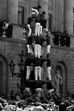 Menschliche Kontrolltürme oder Castel Mensch Barcelona Stockbilder