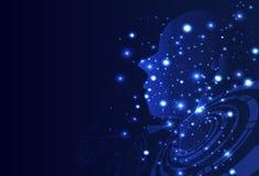 Menschliche Kreativität Digital, parti Dreieck der künstlichen Intelligenz stock abbildung