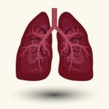 Menschliche Lungenikone stock abbildung
