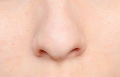 Menschliche Nase Stockfoto