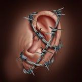 Menschliche Ohr-Schmerz Lizenzfreies Stockfoto