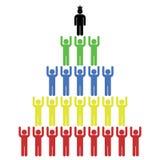 menschliche Pyramide lokalisiert auf weißer Vektorillustration Stockbild
