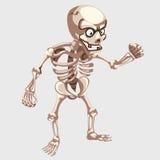 Menschliche skeleton Nahaufnahme mit Augen in der Karikaturart Lizenzfreie Stockfotos