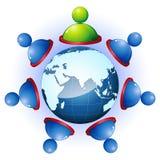 Menschliche Vernetzung vektor abbildung