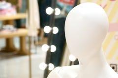 Menschliche weibliche Mannequinporträtphotographie lizenzfreie stockbilder