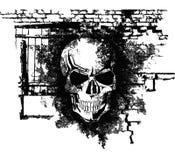Menschlicher Halloween-Schädel vektor abbildung