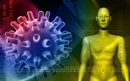 menschlicher Körper im Farbenhintergrund Lizenzfreie Stockfotografie