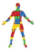 Menschlicher Körper - nahtloses Vektormuster von Plastikteilen Stockbild