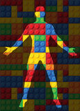 Menschlicher Körper - nahtloses Vektormuster von Plastikteilen Stockfotografie
