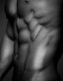Menschlicher Körper in Schwarzweiss Lizenzfreie Stockbilder