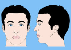 Menschlicher Kopf Stockfoto