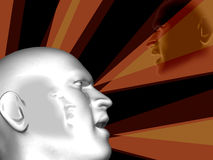 Menschlicher Kopf des Leistunggeschäfts Stockfoto