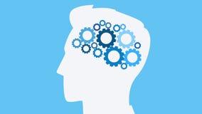 Menschlicher Kopf mit Gängen HD-Animation vektor abbildung
