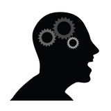 Menschlicher Kopf mit Gangvektorillustration Lizenzfreies Stockbild