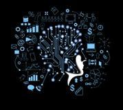 Menschlicher Kopf und symbolisieren das Denken Stockbild
