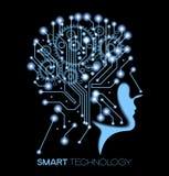 Menschlicher Kopf und symbolisieren das Denken Lizenzfreie Stockfotos